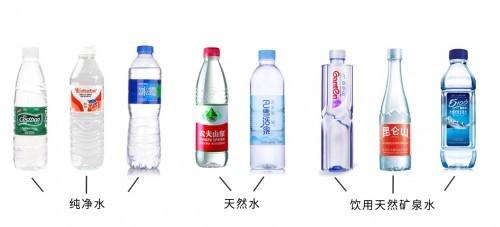饮用纯净水≠饮用天然水≠饮用天然矿泉水